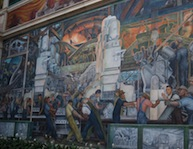 One of Diego Rivera's mammoth Detroit Industry murals at the Detroit Institute of Arts.