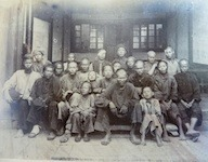 Chinchew Hospital: a group of men waiting for the doctor. Quanzhou, 28th May 1890. Benjamin Lewis Paton (1860-1936)