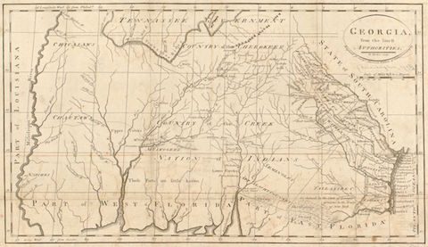 Georgia, from the latest authorities. (1795) Library of Congress Geography and Map Division.