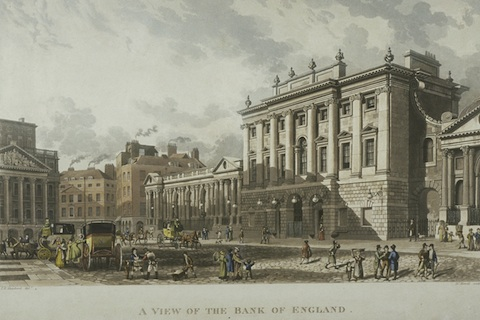 View of the Bank of England (1816).  © London Metropolitan Archives, City of London.