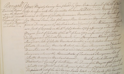 National Archives (UK), PC2/108/410 Privy Council Registers (27 June1761). Image courtesy of Prof. Robert Palmer at http://aalt.law.uh.edu/AALT7/G3/PC2no108/IMG_0215_1.htm