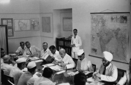 Nehru at a Planning Commission meeting in June 1952. Photograph  by James Burke from Google Life magazine archive